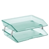 Acrimet Facility 2 Tiers Double Letter Tray (Clear Green Color) Code 253.5