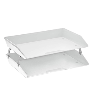 Acrimet Facility 2 Tiers Double Letter Tray (White Color) Code 253.6