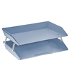 Acrimet Facility 2 Tiers Double Letter Tray (Solid Blue Color) Code 253.AO