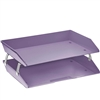 Acrimet Facility 2 Tiers Double Letter Tray (Solid Purple Color) Code 253.LO