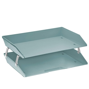 Acrimet Facility 2 Tiers Double Letter Tray (Clear Green Color) Code 253.V.O