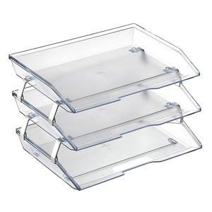 Acrimet Facility 3 Tiers Triple Letter Tray (Clear Crystal Color) Code 255.3