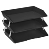 Triple Letter 3 Tiers Tray Black by Acrimet