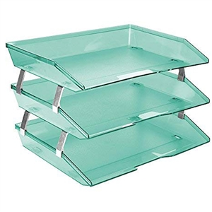 Acrimet Facility 3 Tiers Triple Letter Tray (Clear Green Color) Code 255.5