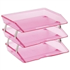 Acrimet Facility Triple Letter Tray (Clear Pink Color) Code 255.8