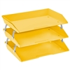 Acrimet Facility 3 Tiers Triple Letter Tray (Yellow Citrus Color) Code 255.AC