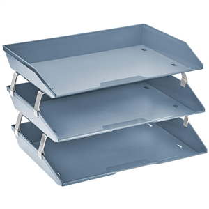 Acrimet Facility 3 Tiers Triple Letter Tray (Solid Blue Color) Code 255.AO