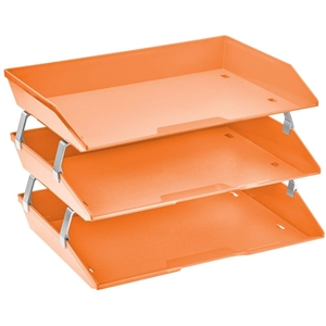 Acrimet Facility 3 Tiers Triple Letter Tray (Orange Citrus Color) Code 255.L.C / O.C