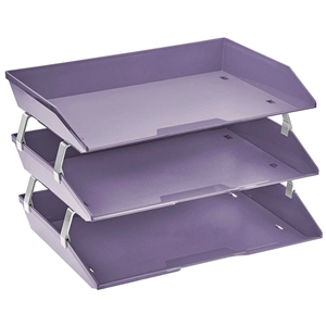 Acrimet Facility 3 Tiers Triple Letter Tray (Solid Purple Color) Code 255.LO