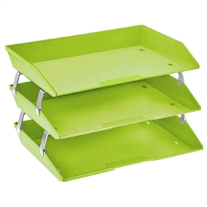 Acrimet Facility 3 Tiers Triple Letter Tray (Green Citrus Color) Code 255.VC
