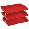 Acrimet Facility 3 Tiers Triple Letter Tray (Solid Red Color) Code 255.VM