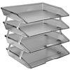 Acrimet Facility Letter Tray 4 Tiers (Clear Smoke Color) Code 256.1