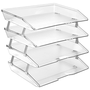 Acrimet Facility Letter Tray 4 Tiers (Clear Crystal Color) Code 256.3