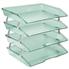 Acrimet Facility Letter Tray 4 Tiers (Clear Green Color) Code 256.5
