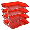 Acrimet Facility Letter Tray 4 Tiers (Clear Red Color) Code 256.7
