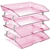 Acrimet Facility Letter Tray 4 Tiers (Clear Pink Color) Code 256.8