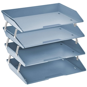 Acrimet Facility Letter Tray 4 Tiers (Solid Blue Color) Code 256.A.O