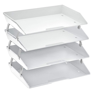 Acrimet Facility Letter Tray 4 Tiers (Solid White Color) Code 256.B.O