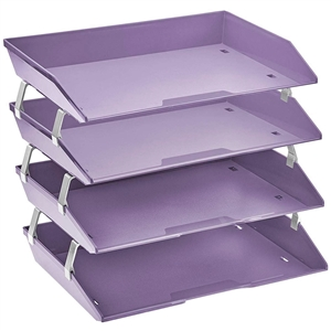 Acrimet Facility Letter Tray 4 Tiers (Solid Purple Color) Code 256.L.O