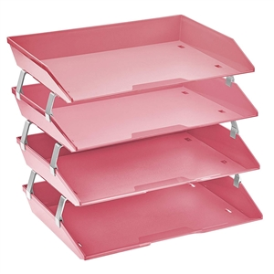 Acrimet Facility Letter Tray 4 Tiers (Solid Pink Color) Code 256.R.O
