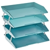 Acrimet Facility Letter Tray 4 Tiers (Solid Green Color) Code 256.V.O