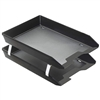 Acrimet Facility 2 Tiers Double Letter Tray Front Loading Design (Solid Black Color) Code 263.4