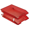 Acrimet Facility 2 Tiers Double Letter Tray Front Loading Design (Clear Red Color) Code 263.7