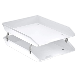 Acrimet Facility 2 Tiers Double Letter Tray Front Loading Design (Solid White Color) Code 263.B.O