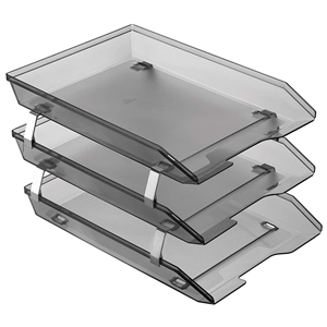 Acrimet Facility 3 Tiers Triple Letter Tray Frontal (Smoke Color) Code 265.1