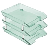 Acrimet Facility 3 Tiers Triple Letter Tray Frontal (Clear Green Color) Code 265.5