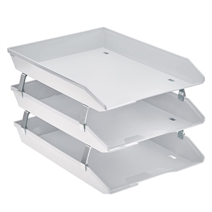 Acrimet Facility 3 Tiers Triple Letter Tray Frontal (White Color) Code 265.6