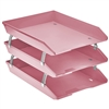 Acrimet Facility 3 Tiers Triple Letter Tray Frontal (Solid Pink Color)