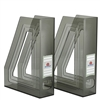 Acrimet Magazine File Holder (Clear Smoke Color) 2 Pack Code 277.1