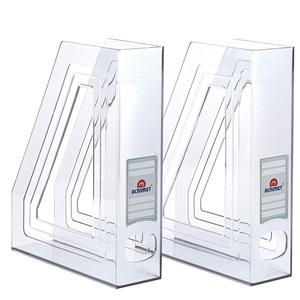 Acrimet Magazine File Holder (Crystal Color) 2 Pack Code 277.2