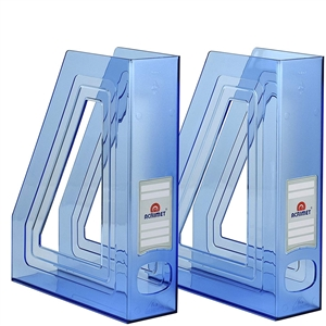 Acrimet Magazine File Holder (Clear Blue Color) 2 Pack Code 277.4