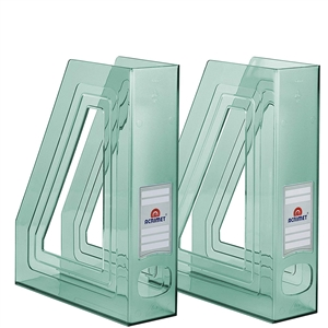 Acrimet Magazine File Holder (Clear Green Color) 2 Pack