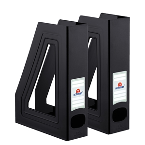 Acrimet Magazine File Holder (Solid Black Color) 2 Pack Code 277.6