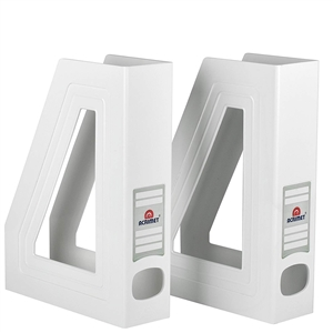 Acrimet Magazine File Holder (White Color) 2 Pack Code 277.7