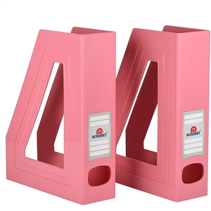 Acrimet Magazine File Holder Home (Solid Pink Color) 2 Pack Code 277.9