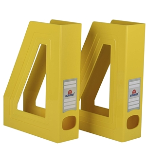 Acrimet Magazine File Holder (Solid Yellow Color) 2 Pack Code 277.A.C