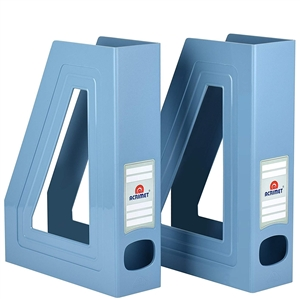 Acrimet Magazine File Holder (Solid Light Blue Color) 2 Pack Code 277.AO