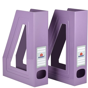 Acrimet Magazine File Holder (Solid Purple Color) 2 Pack Code 277.LO