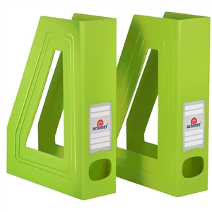 Acrimet Magazine File Holder (Solid Green Citrus Color) 2 Pack Code 277.V.C