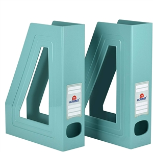Acrimet Magazine File Holder (Solid Green Color) 2 Pack Code 277.VO