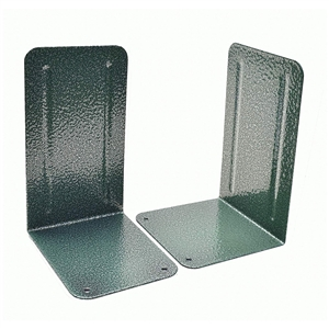 Acrimet Premium Bookends Metallic Finishing (Green Platinum Color) 1 Pair