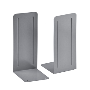 "Acrimet Jumbo Premium Bookends 9"" (Silver Color) 1 Pair Code 294.1"