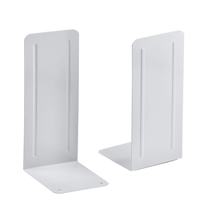 "Acrimet Jumbo Premium Bookends 9"" (White Color) 1 Pair Code 294.9"