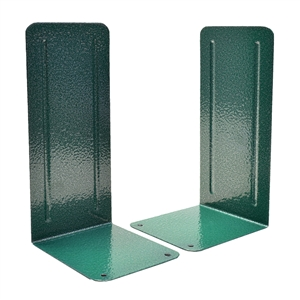 "Acrimet Jumbo Premium Bookends 9"" Metallic Finishing (Green Color) 1 Pair Code 296.3"