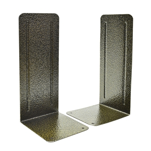 "Acrimet Jumbo Premium Bookends 9"" Metallic Finishing (Black Gold) 1 Pair Code 296.5"