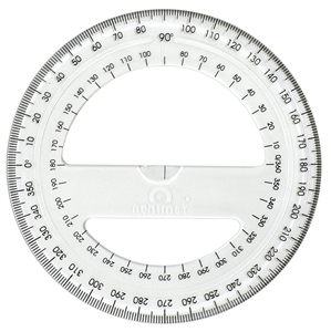 Acrimet 360 degree Protractor Premium (Clear Crystal Color) Code 552.0